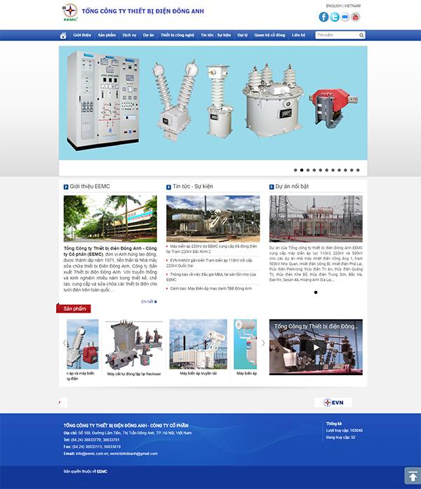 Thiết kế Mẫu Website Thiết Bị Điện TBD04