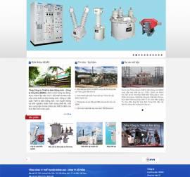 Mẫu Website Thiết Bị Điện TBD04