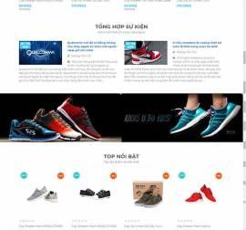 Mẫu website thời trang giày 01