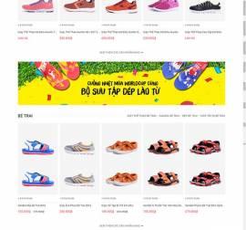Mẫu website thời trang giày 02