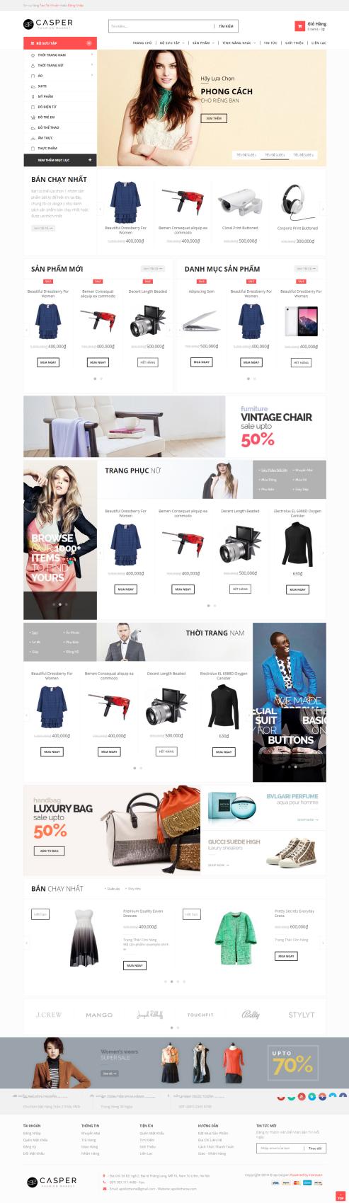 Mẫu website thời trang TT20