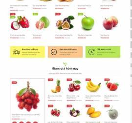 Mẫu website thực phẩm rau hoa quả RHQ14