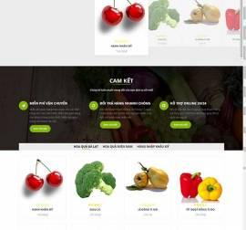 Mẫu website thực phẩm rau hoa quả RHQ16