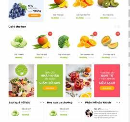 Mẫu website thực phẩm rau hoa quả RHQ17