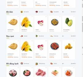 Mẫu website thực phẩm rau hoa quả RHQ18