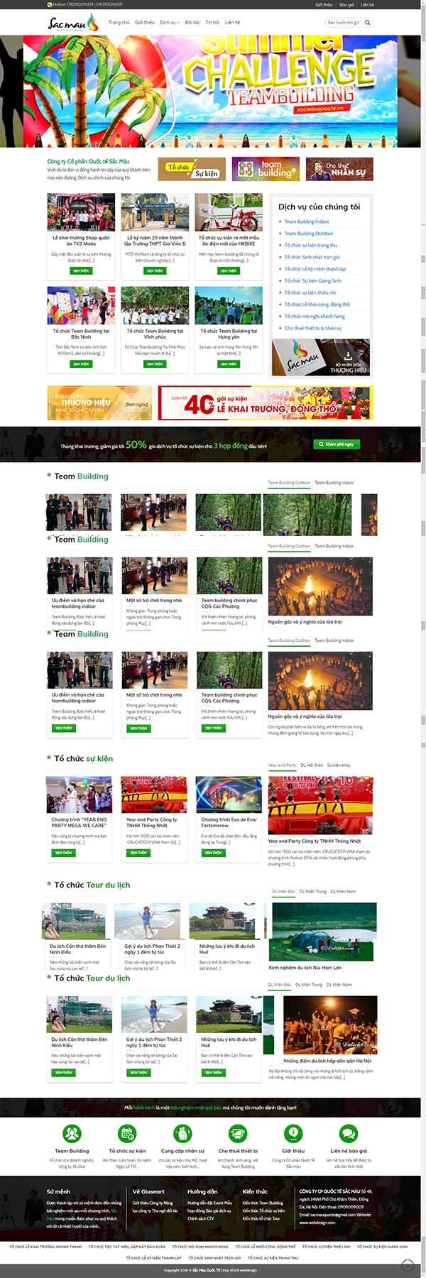 Thiết kế Mẫu website tổ chức sự kiện 02