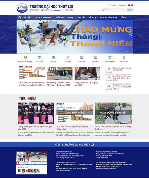 Thiết kế Mẫu website trường học TH01