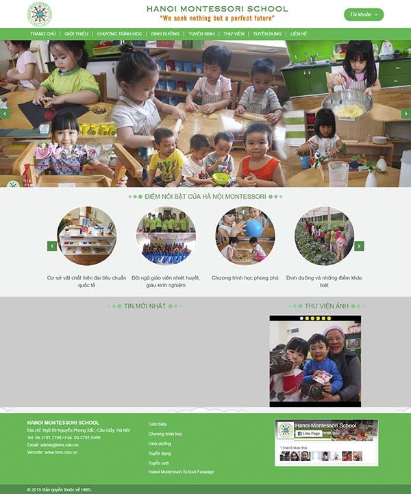 Thiết kế Mẫu website trường học TH03
