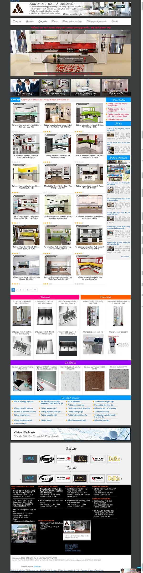 Thiết kế Mẫu website tủ bếp 02