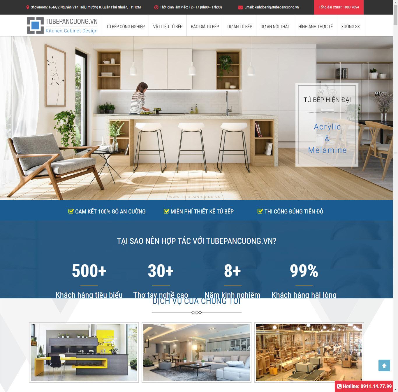 Thiết kế Mẫu website tủ bp 03