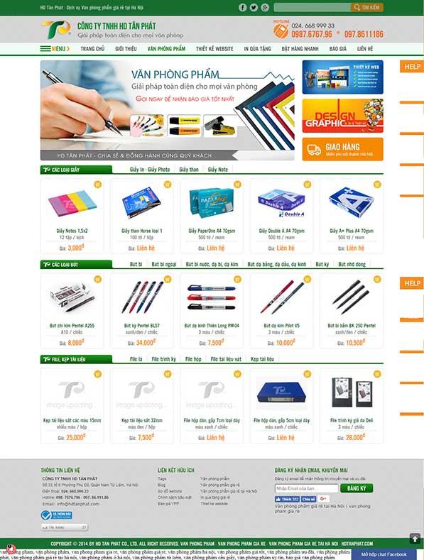 Thiết kế Mẫu website văn phòng phẩm 07
