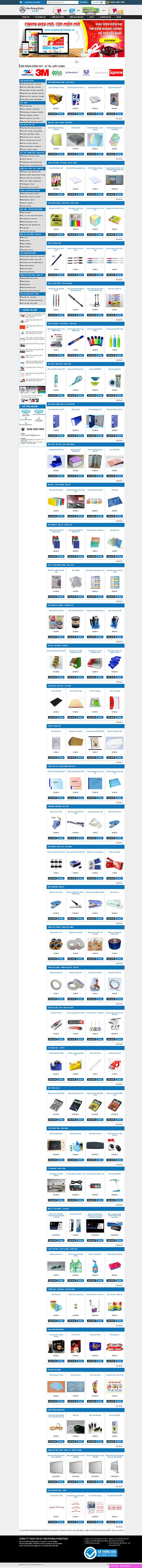 Thiết kế Mẫu Website Văn Phòng Phẩm VPP04