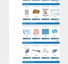 Mẫu Website Văn Phòng Phẩm VPP04