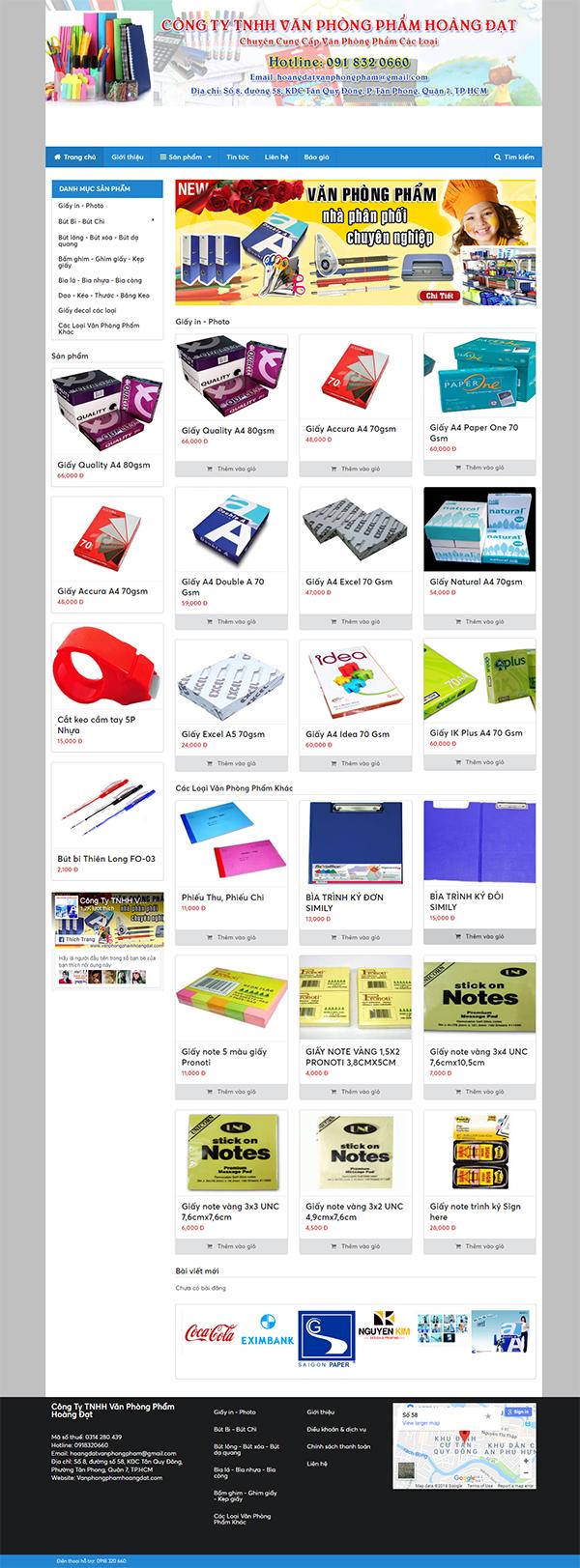 Thiết kế Mẫu Website Văn Phòng Phẩm VPP05