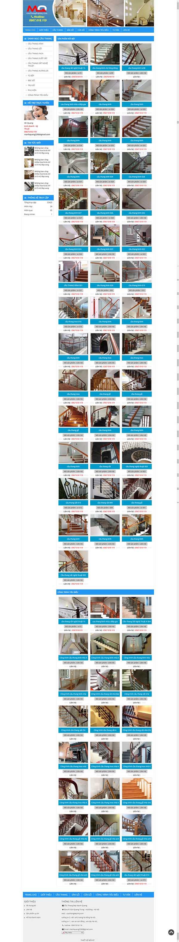 Thiết kế Mẫu website về cầu thang 05