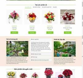 Mẫu website về hoa - cây 01