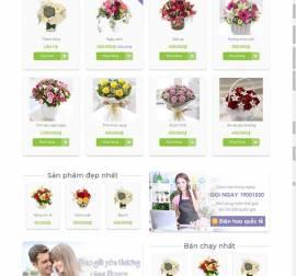 Mẫu website về hoa - cây 02