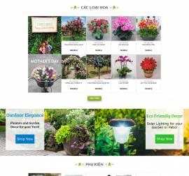 Mẫu website về hoa - cây 03
