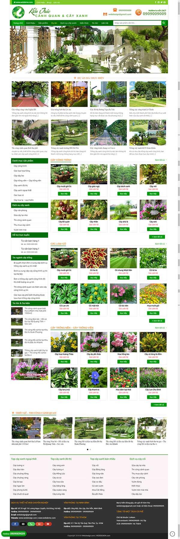 Thiết kế Mẫu website về hoa - cây 04