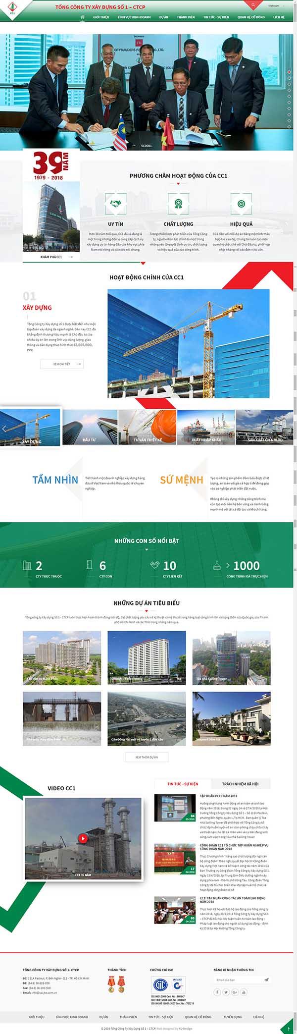 Thiết kế Mẫu website xây dựng 02