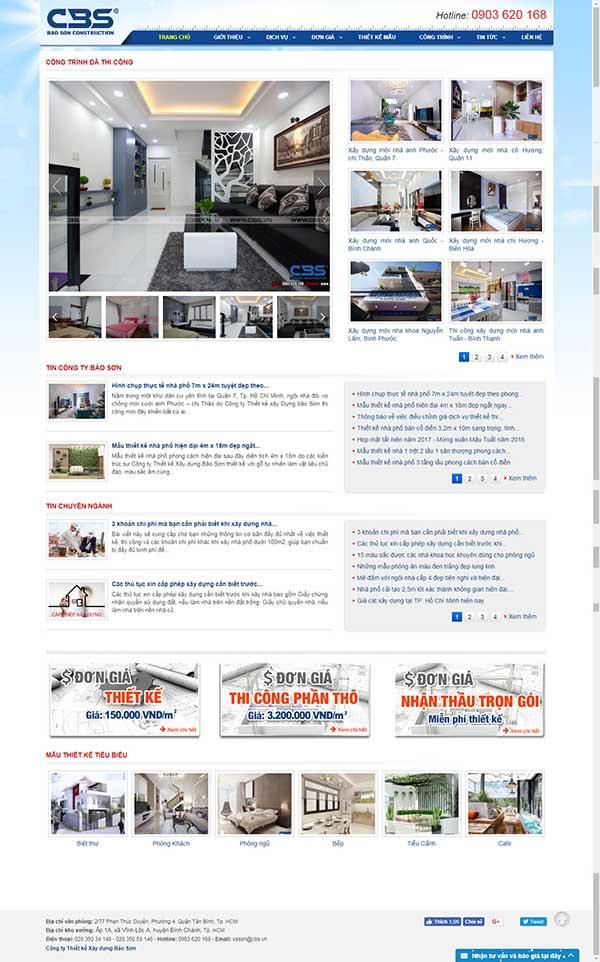 Thiết kế Mẫu website xây dựng 03