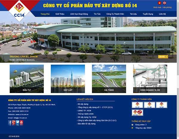 Thiết kế Mẫu website xây dựng 08