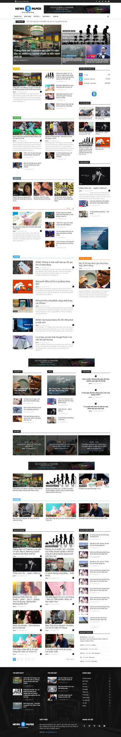 Thiết kế Mẫu tin tức TN07
