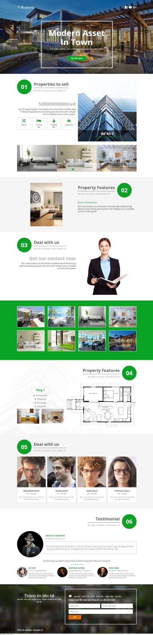 Thiết kế Mẫu website bất động sản 12