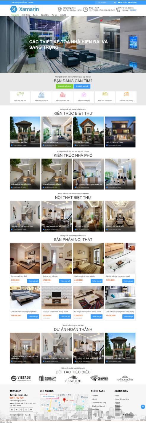 Thiết kế Mẫu website bất động sản 13