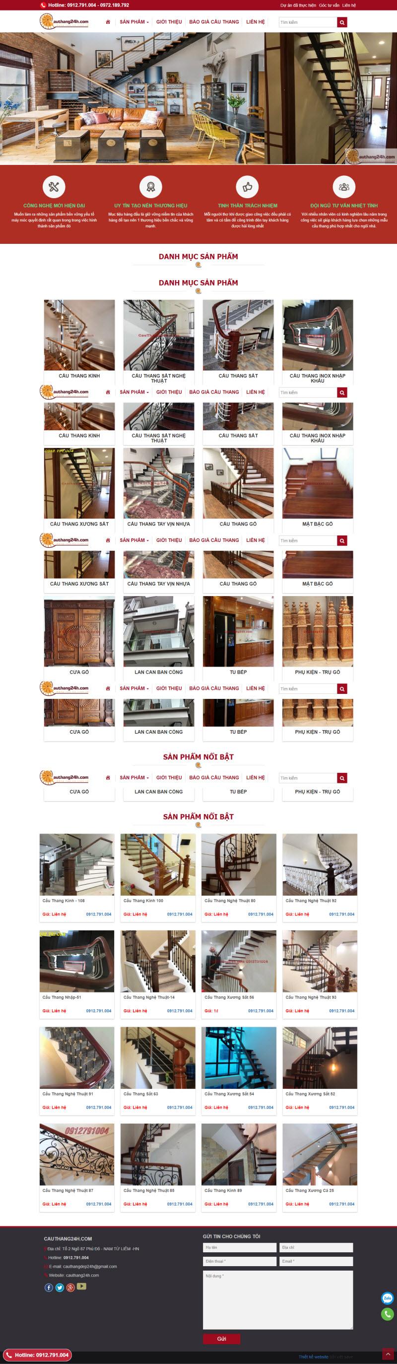 Thiết kế mẫu website cơ bản 08