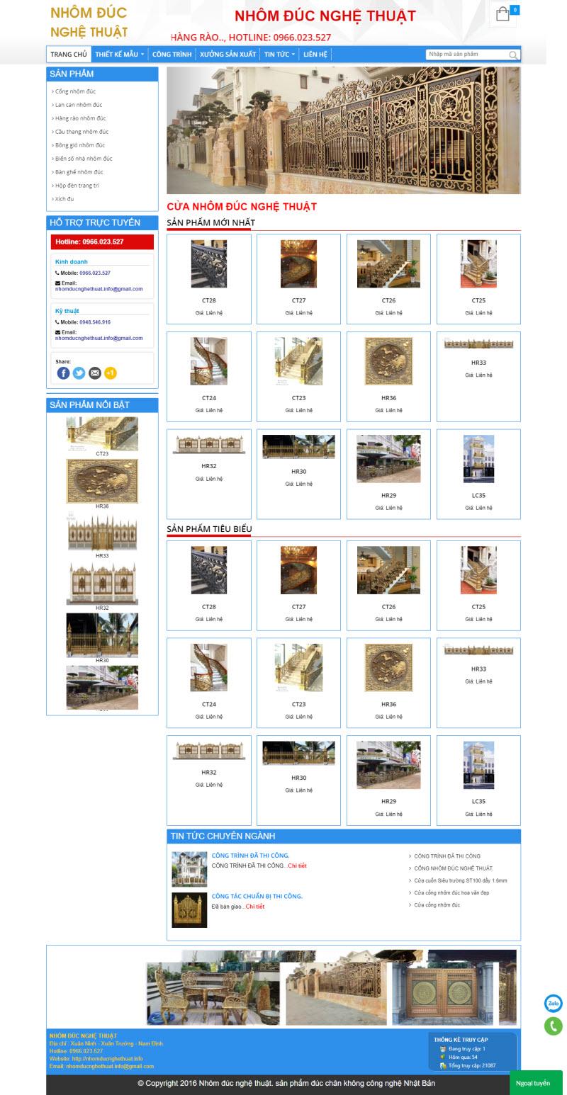 Thiết kế mẫu website cơ bản 11