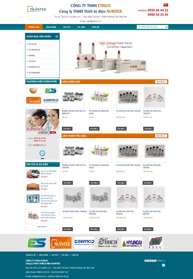 Thiết kế mẫu website cơ bản 12