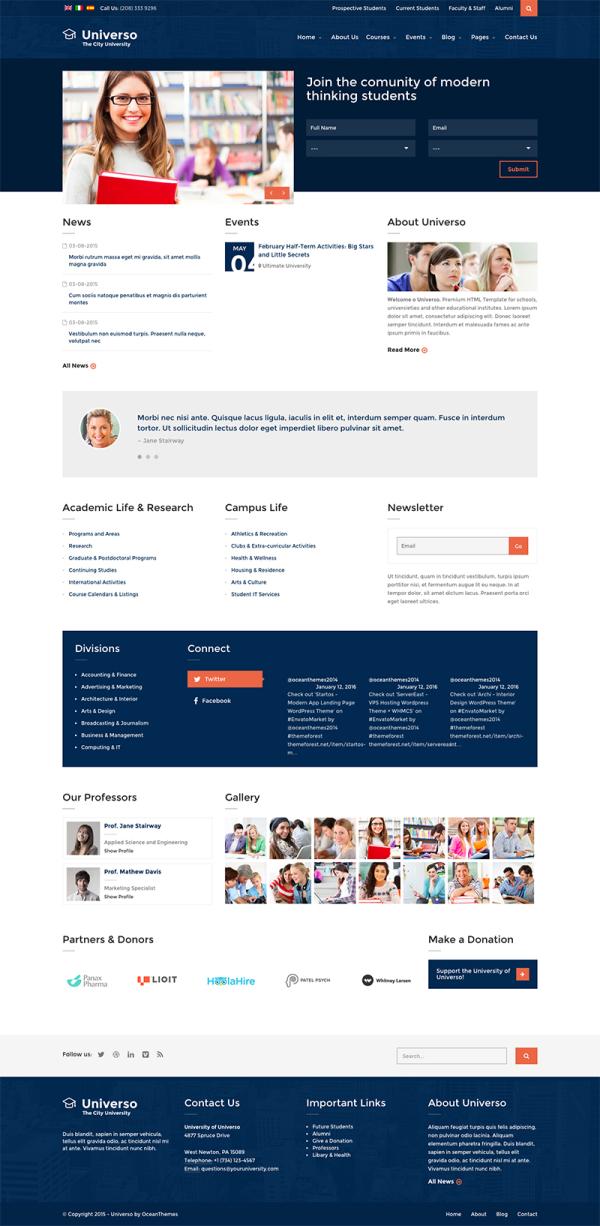 Thiết kế Mẫu website giáo dục đào tạo 07