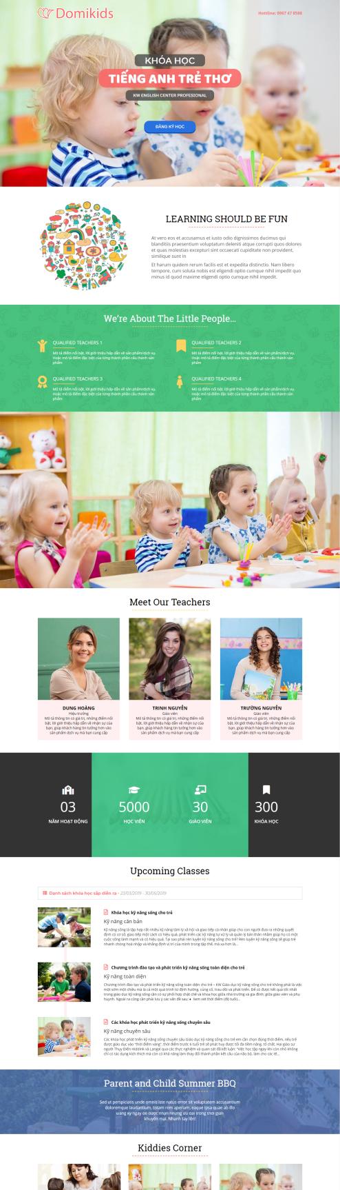 Thiết kế Mẫu website giáo dục đào tạo 10
