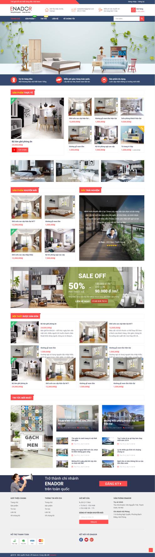 Thiết kế Mẫu website kiến trúc nội thất KTNT23