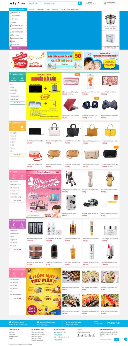 Thiết kế Mẫu website mẹ và bé MB09