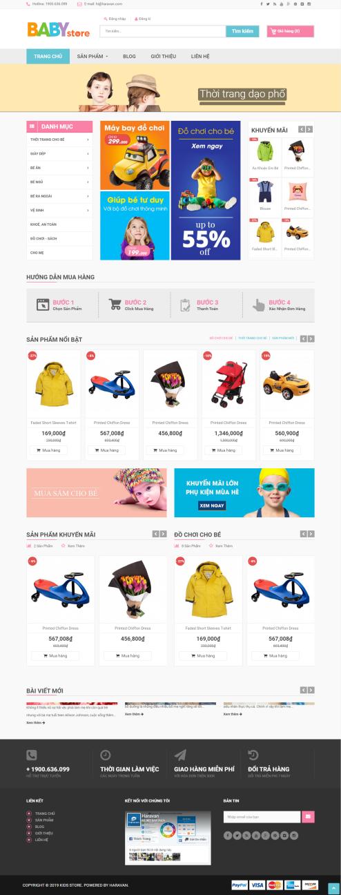 Thiết kế Mẫu website mẹ và bé MB10