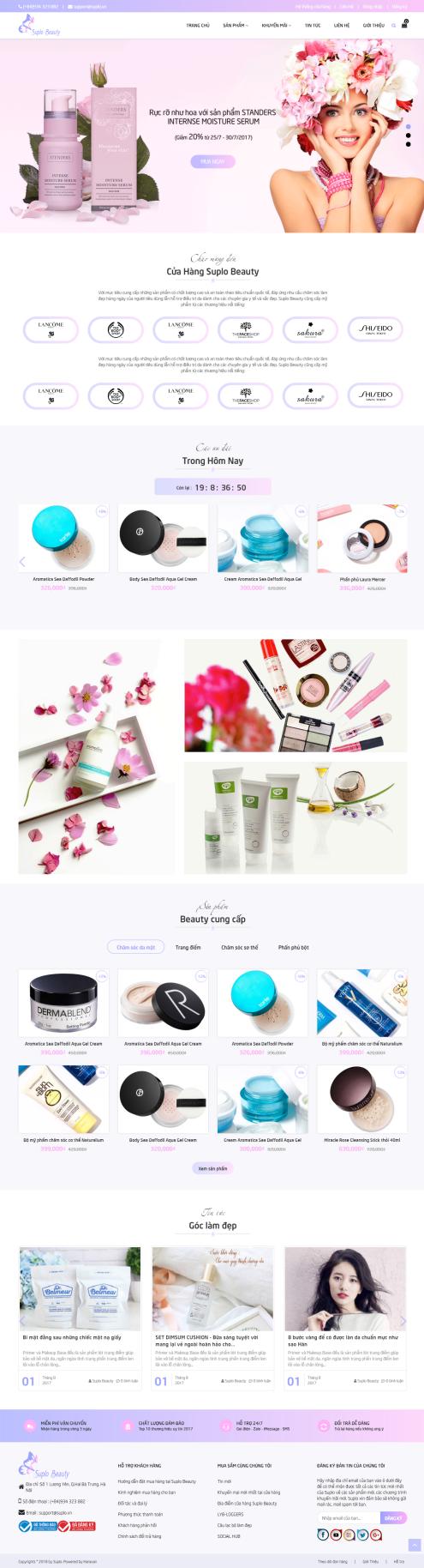 Thiết kế Mẫu website mỹ phẩm MP24