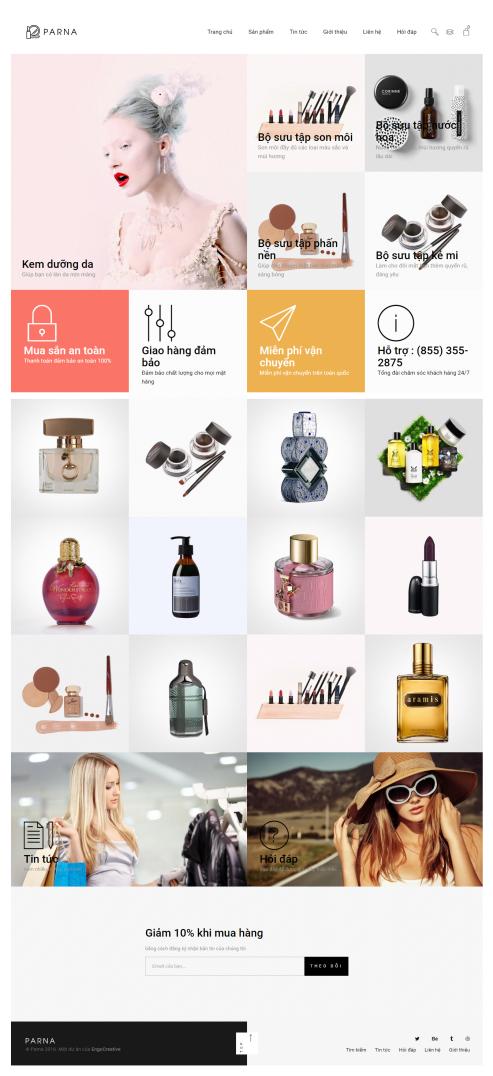 Thiết kế Mẫu website mỹ phẩm MP25