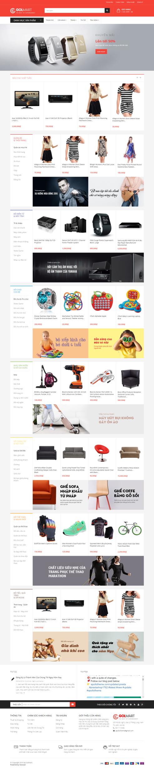 Thiết kế Mẫu website siêu thị 10