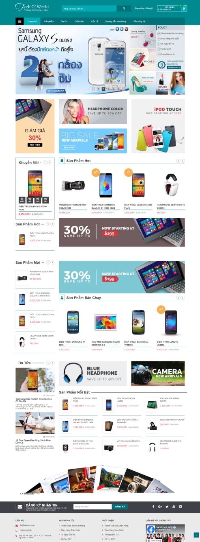 Thiết kế Mẫu website siêu thị điện tử 01