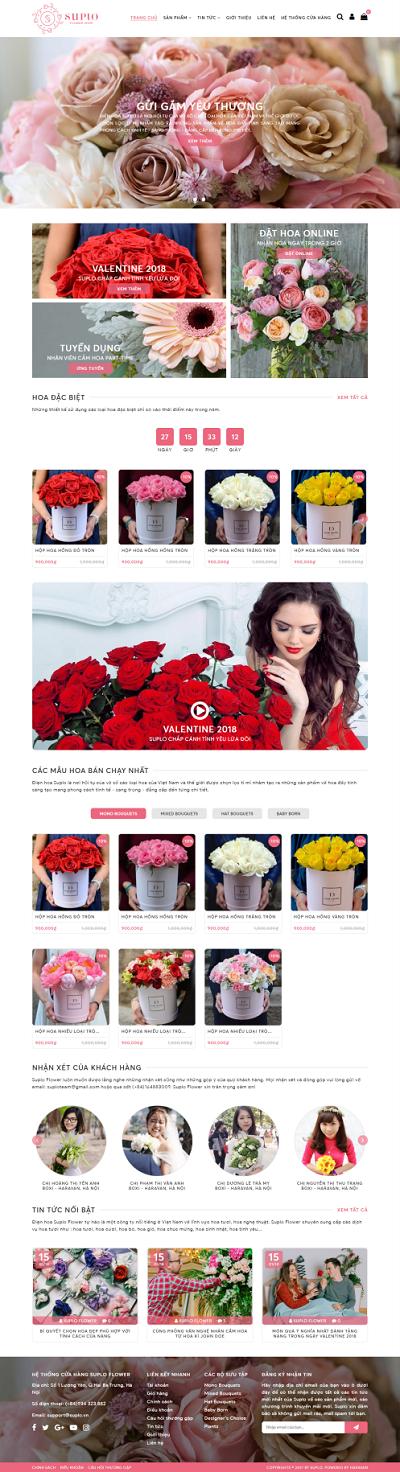 Thiết kế Mẫu website về hoa - cây 06