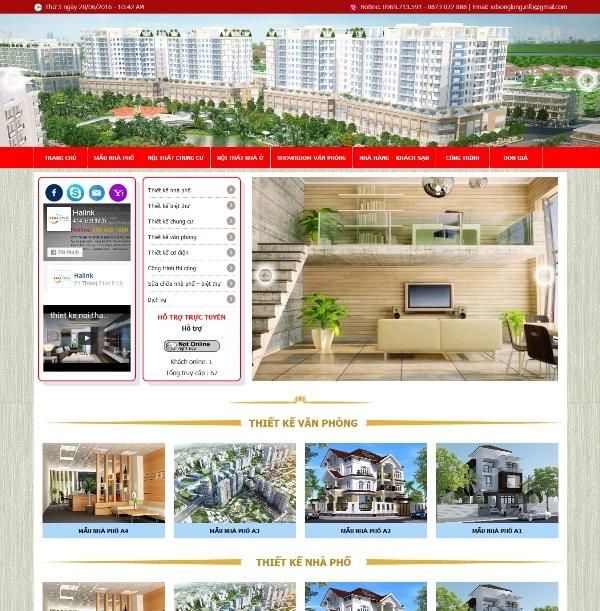 Thiết kế Mẫu website xây dựng 06