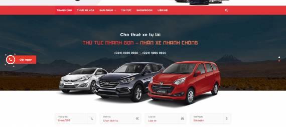 Thiết kế webiste cho thuê xe