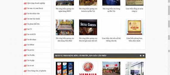 Thiết kế website biển quảng cáo