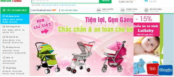 Thiết kế website mẹ và bé