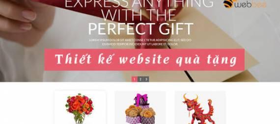 Thiết kế website quà tặng- đồ lưu niệm online