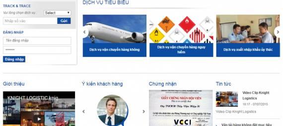 Thiết kế website vận tải, logistics.