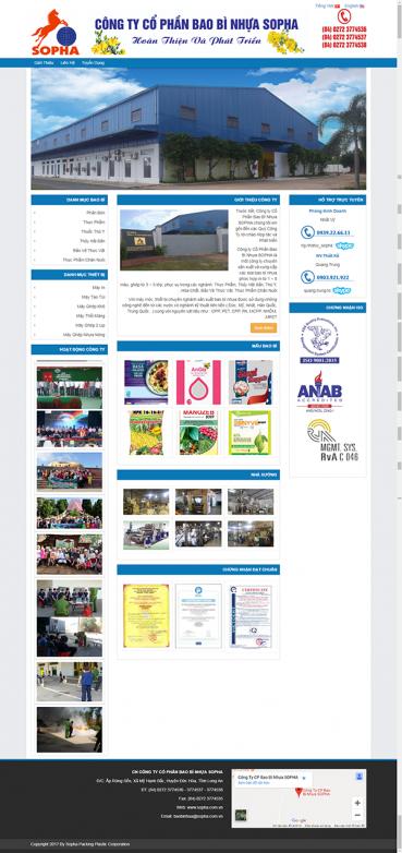 Thiết kế Mẫu website bao bì BB03