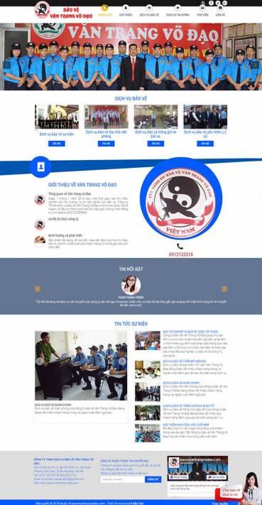 Thiết kế Mẫu website bảo vệ an ninh 01